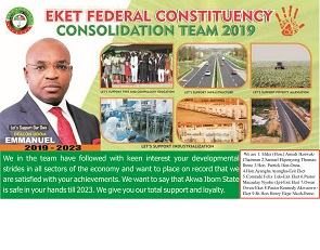 EKET FEDERAL CONSTITUENCY CONSOLIDATION TEAM, 2019