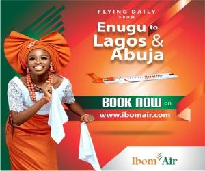 Ibom Air Commences Flights, Enugu to Lagos and Abuja Monday