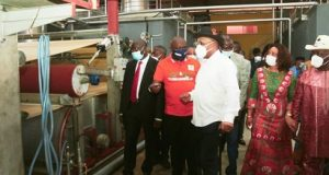 Gov. Udom Inaugurates Tissue Factory
