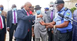 Governor Emmanuel Donates 30 Patrol Trucks